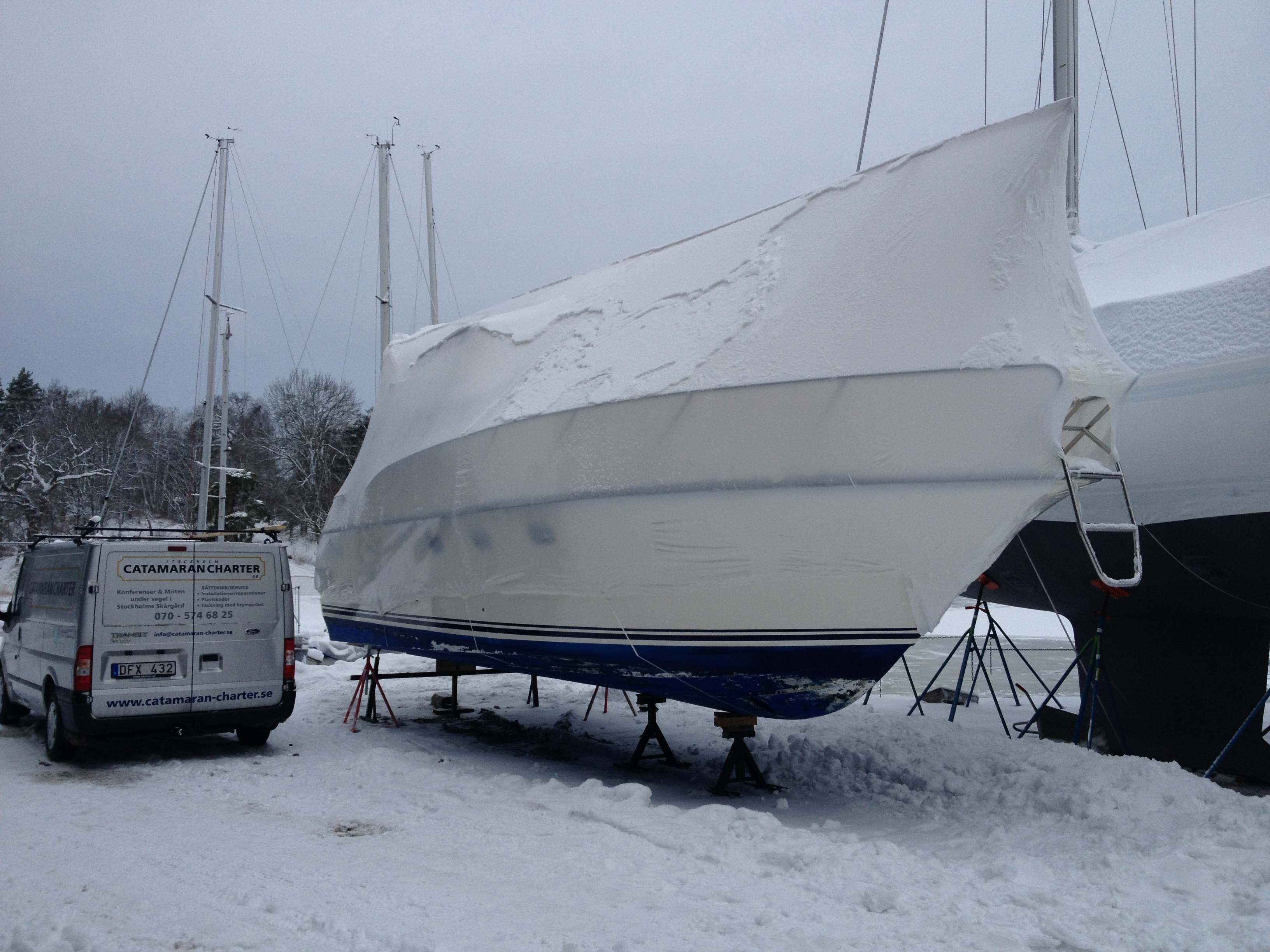 Krympplast båt stockholm
